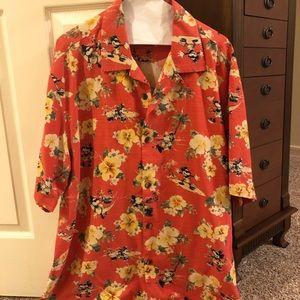 Mickey Mouse Tommy Bahama Hawaiian Shirt Size L